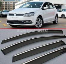 For VW Volkswagen POLO 2011-2014 Window Wind Deflector Visor Rain/Sun Guard Vent
