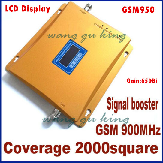 GSM 950 Repeater GSM Signal Repeater 900MHZ Mobile Phone Signals Booster LCD Display GSM Repeater,cover 500 - 2000 Square Meter