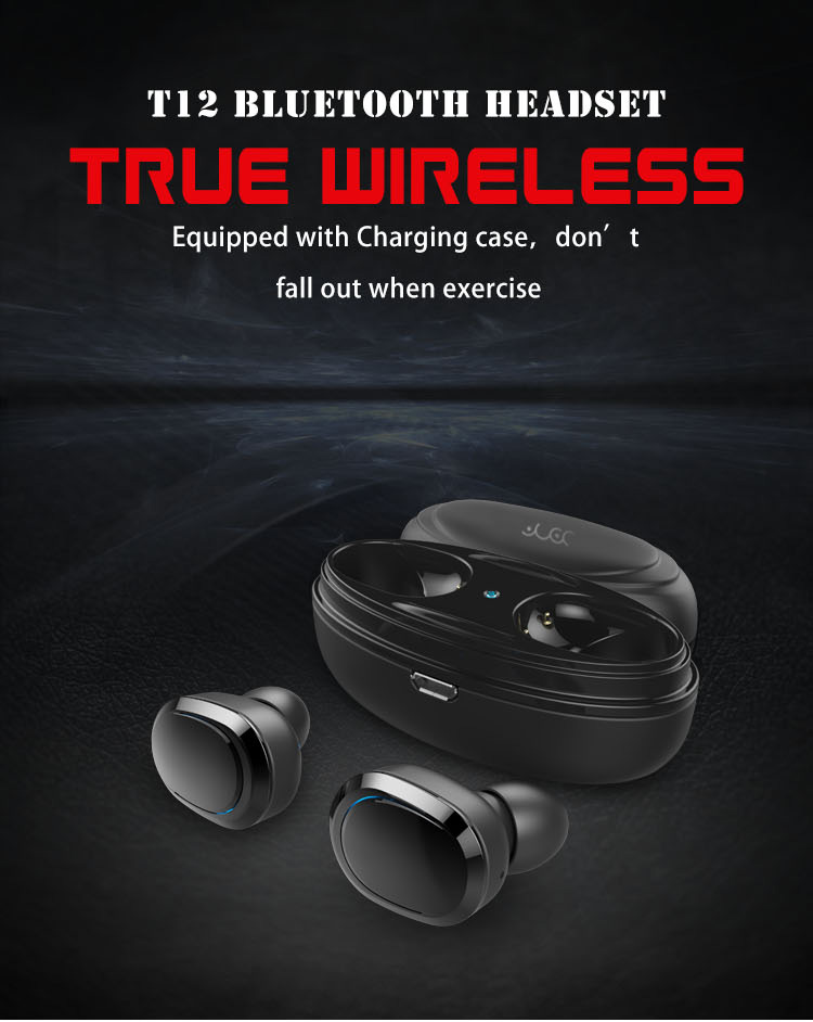 Original T12 Dual TWS True Wireless Bluetooth Headphones In-ear Stereo Music Headsets Invisible Earphone Hands-free Microphone_01
