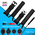 AOTU Waterproof Silicone Soft Deodorant Watch Strap For SUUNTO AMBIT 3 PEAK/Ambit 2/Ambit 1 Outdoor Wristband Bracele+Tools