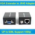 Один RJ45 Cat 5e/6 Сетевой Кабель До 60 М VGA Signal Extender Ретранслятор Адаптер Поддержка 1080 P Полное 3D 2 Год гарантия