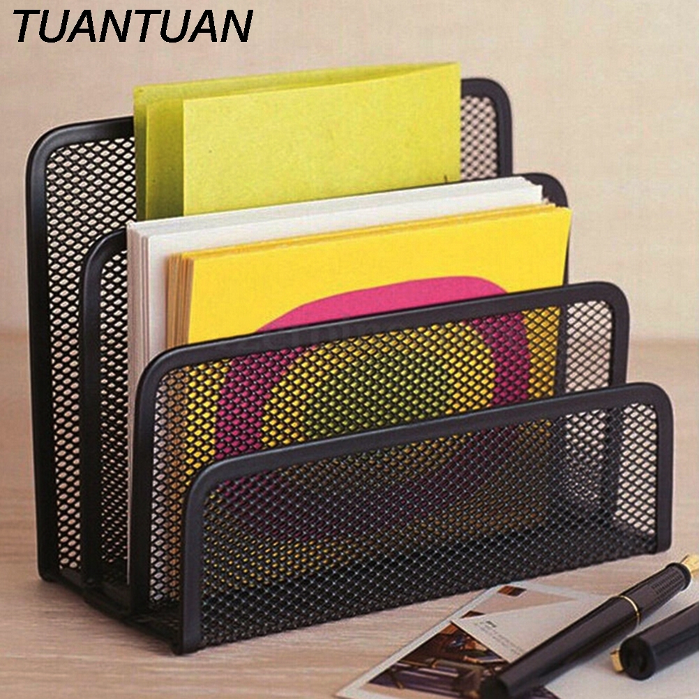 Top Quality Mesh Black Bookend Book Metal Bookends Book Shelves Desk Organizer Office Shelves School Stationery For Kids