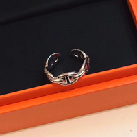 Hot Brand Pure 925 Sterling Silver Jewelry For Women Men Letter Round H Lock Rings Silver