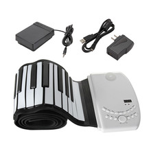 Zebra 88 Key Flexible Foldable Piano Portable Electric Digital Roll up Keyboard Piano For Keyboard Musical Instrument Lover Gift