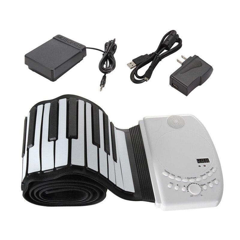 Zebra 88 Schlüssel Flexible Faltbare Klavier Tragbare Elektrische Digitale Roll up Keyboard Klavier Für Tastatur Musikinstrument Liebhaber Geschenk