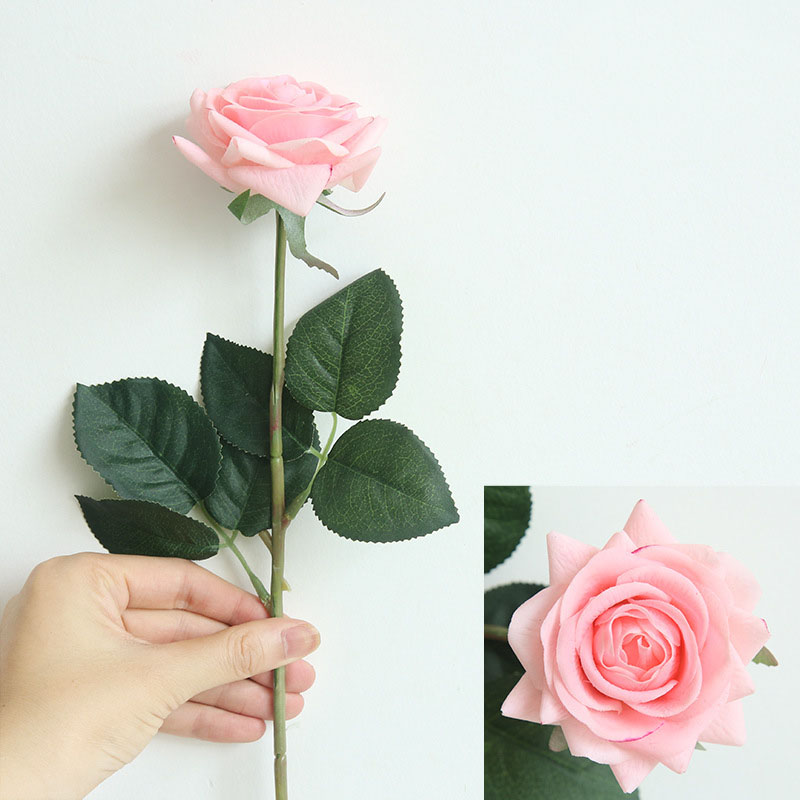 Real touch roses artificial flower wedding home decoration (40)