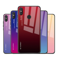 Gradient Tempered Glass Phone Case For Xiaomi Mi6 Mi8 Pocophone F1 Mi6