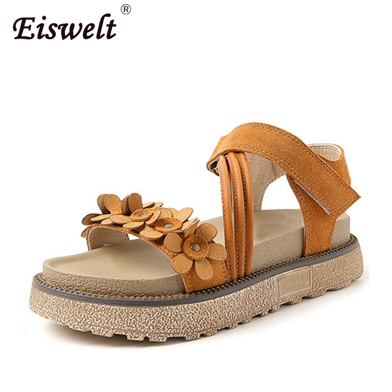Summer Glitters Gladiator Sandals Platform Shoes Woman Casual Buckle Flats Beach Women Shoes Flower Creepers hee grand 2017 platform gladiator sandals beach beaded wedges sandals casual platform shoes woman slip on creepers xwz3466