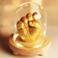 3D руки ног печати формы для ребенка Порошок гипсовая отливка комплект ручной след материалы подарок на память роста мемориал