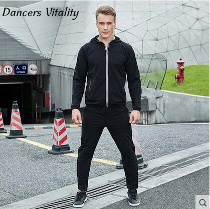 Outdoor 2017 New Men Sport Suits Wholesale Mens Sets Clothes Thick Hoodies Winter Jacket Sportswear Running Suit Fitness clothes