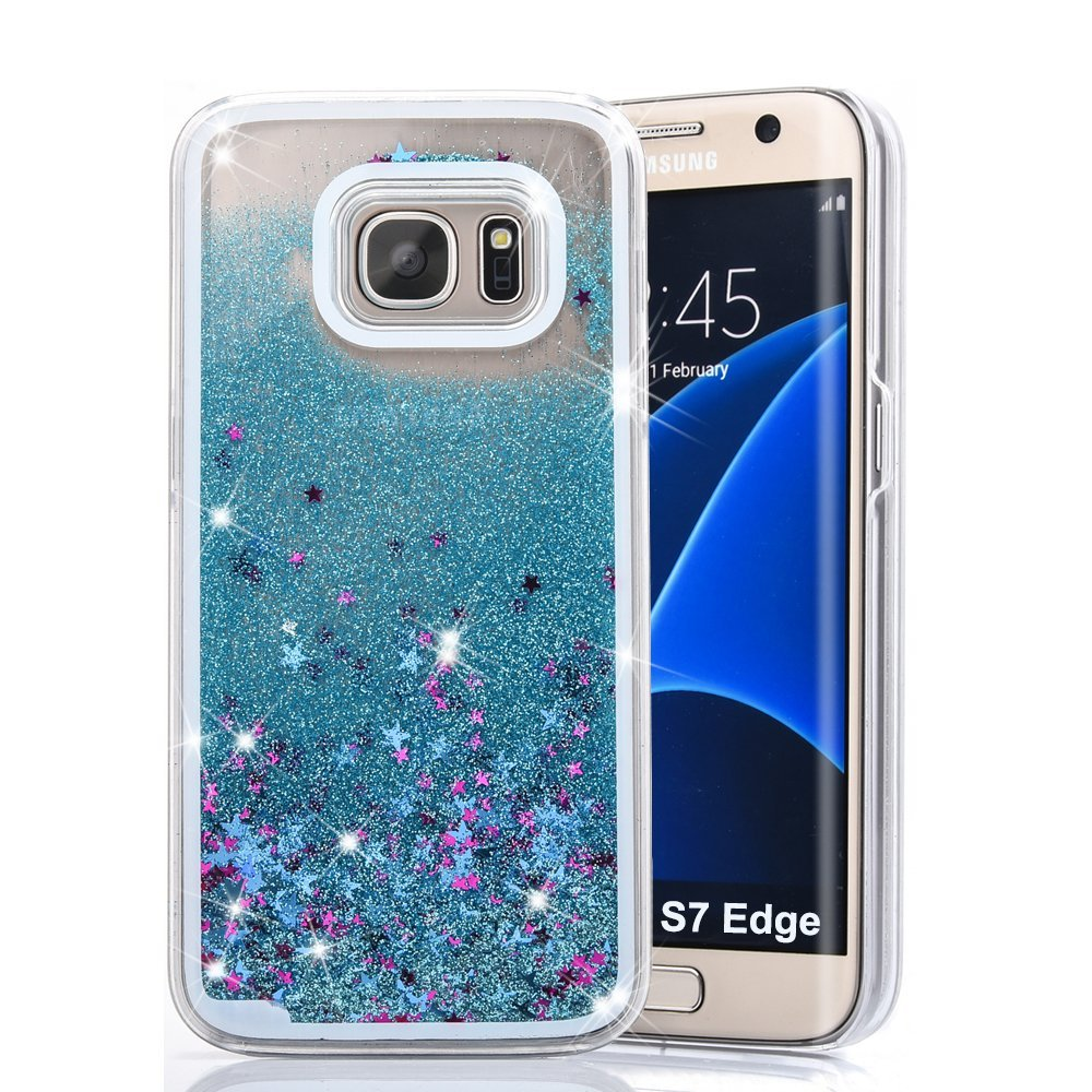 For Samsung Galaxy S7, S7 Edge Fun Glitter Star Flowing ...