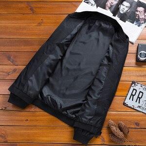 Image 5 - 2020 야구 자켓 남자 브랜드 캐주얼 솔리드 패션 슬림 지퍼 자켓 남자 고품질 Streetwear 오버 코트 남성 파일럿 자켓