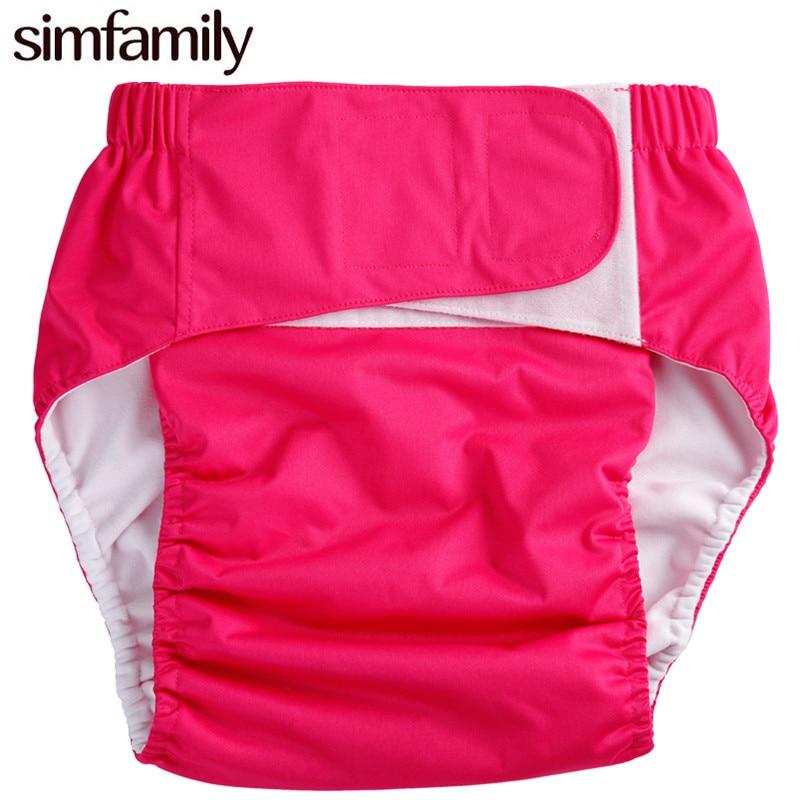 [simfamily] 1 pc täiskasvanute riidest mähe, uriinipidamatuse püksid, ühekordse kasutusega padjaga töötamine, hulgimüük lastele mähkmed lastele