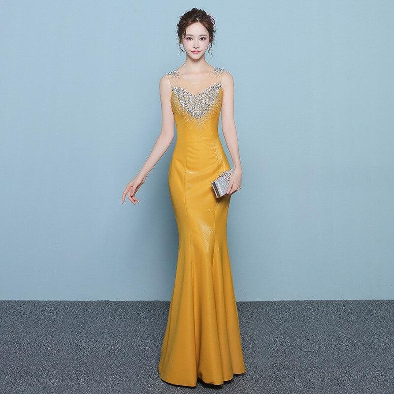 Luxe or étincelle cristal sirène robes De soirée Dubai Abiye longue perlée dentelle robes De bal Robe De soirée brillante formelle Robe