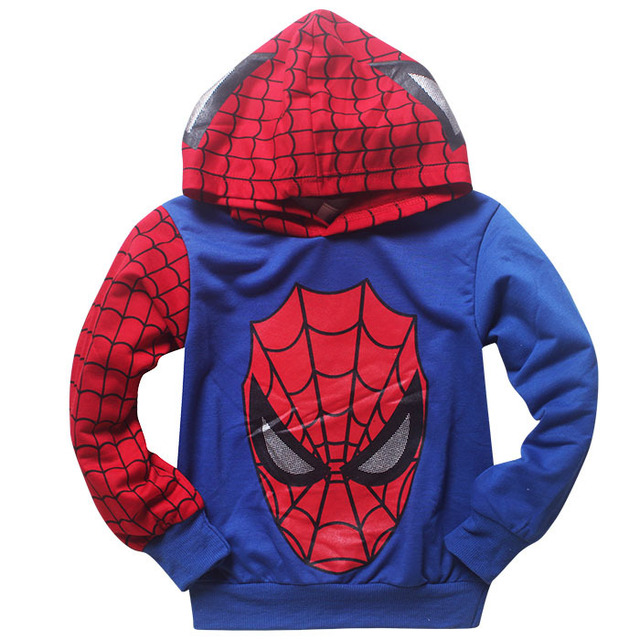 Spiderman Child Costume Sports Suit 2 Pieces Set Tracksuits boys Clothing  2-7Y