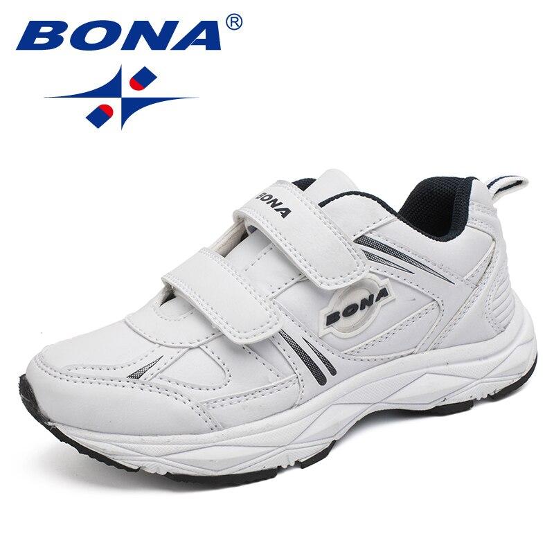 BONA Neue Beliebte Stil Kinder Casual Schuhe Haken & Loop Jungen Turnschuhe Outdoor Jogging Schuhe Licht Weich Kostenloser Versand