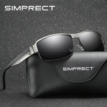 SIMPRECT 2019 Photochromic Square Sunglasses Men Polarized U