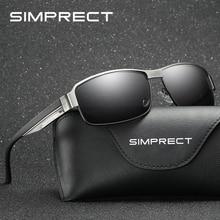 SIMPRECT 2019 Square Sunglasses Men Polarized UV400 High Qua