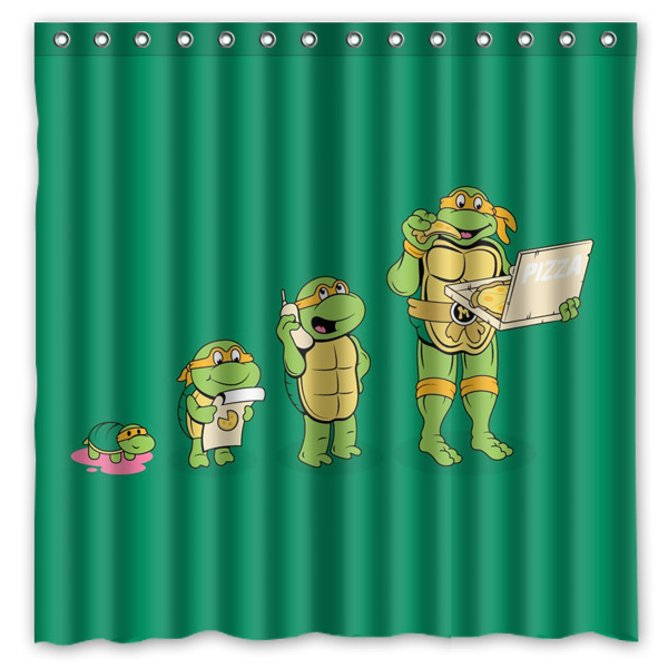 Bathroom Products Polyester Fabric Teenage Mutant Ninja Turtles Printed Shower Curtains WaterproofWashable Bath 72x7 In From Home