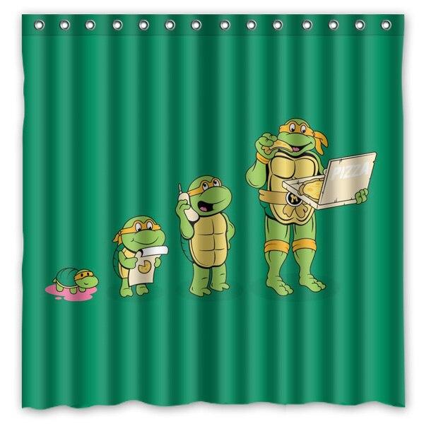 Online Get Cheap Turtle Shower Curtain Aliexpress Com Alibaba Group - Teenage Mutant Ninja Turtles Shower Curtain Hooks Curtain