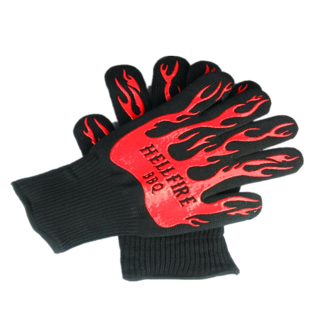 New Design BBQ Grill Gloves, Slip-Resistant Gloves, Fire proof Heat Resistant Gloves,Oven Kitchen Gloves mr grill heat resistant oven