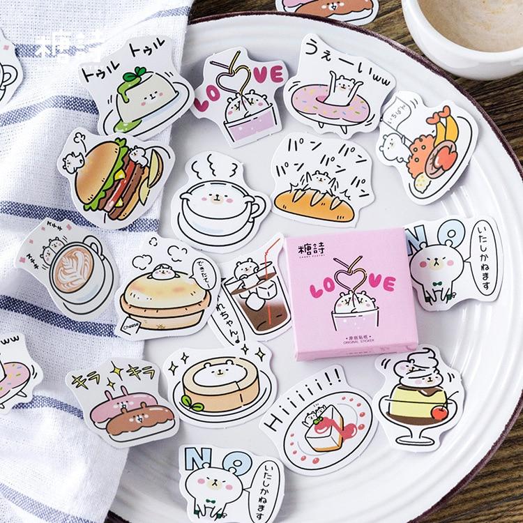 Sweet Food Bear Decorative Stationery Stickers Scrapbooking DIY Diary Album Stick Label цена 2017