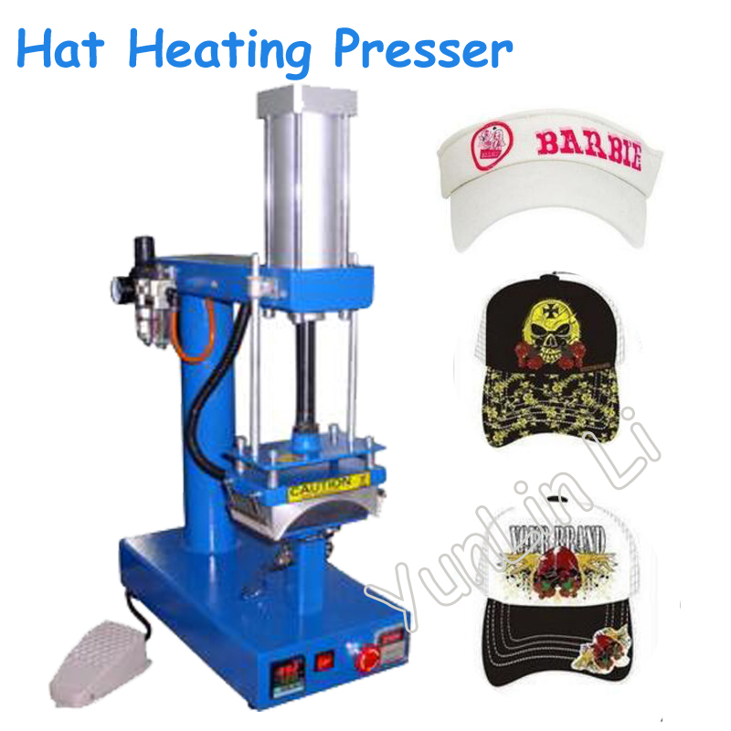 Hat Heating Pressing Machine Air Cap Heat Press Machine Pneumatic Heat Printing Machine with English Manual CP815 cheap manual swing away heat press machine for flatbed print 38 38cm