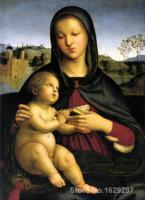 Мадонна с младенцем и книга Рафаэль sanzio живопись для продажи ручная роспись высокое качество