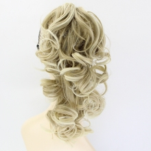 Curly Synthetic Clip In Hair Extensions Claw Ponytail 6 color