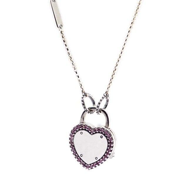 Подлинное серебро 925 пробы чокер замок ожерелья ваше обещание подвески ожерелья женские ювелирные изделия колье оптовая продажа