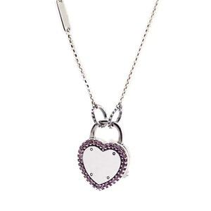 Image 1 - Véritable 925 en argent Sterling collier ras du cou serrure votre promesse pendentifs colliers femmes bijoux collier en gros