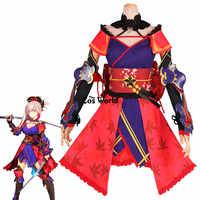 FGO Fate Grand Order Shinmen Musashi Nogami Fujiwarano Harunobu เสื้อชุดชุดอะนิเมะชุดคอสเพลย์