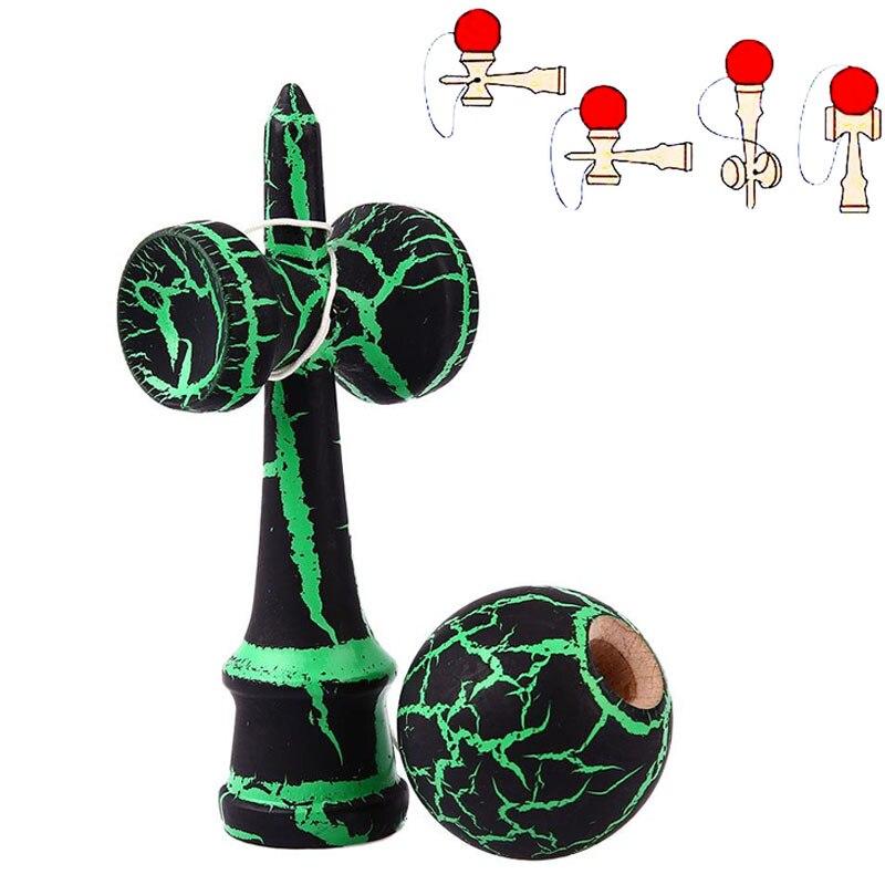 Лидер продаж полный треск Дерево шар Kendama образование традиционная игра игрушка красочная краска деревянные игрушки