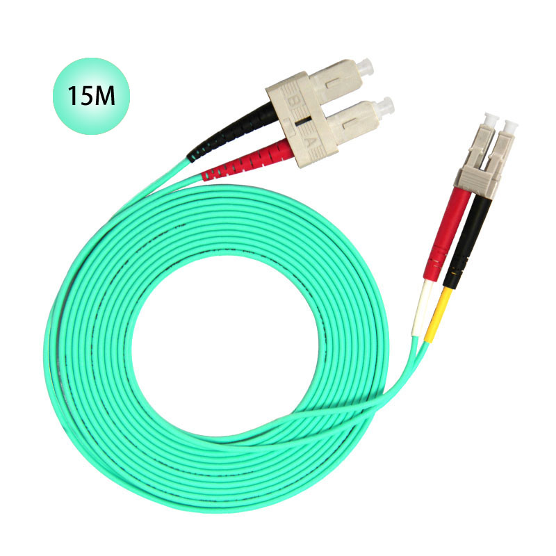SC to LC 10GB Laser Optimized Multimode Fiber Patch Cable - OM3 - 15 Meter Free Shipping