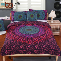 BeddingOutlet Mandala Bedding Posture Million Romantic Soft Bedclothes Plain Twill Boho 2Pcs Or 3Pcs Drap De