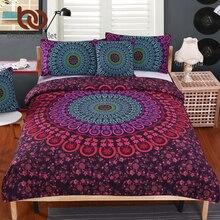 Beddingoutlet mandala lecho postura millones romántica suave duvet cover set con fundas de almohada ropa de cama de sarga bohemain 4 unids