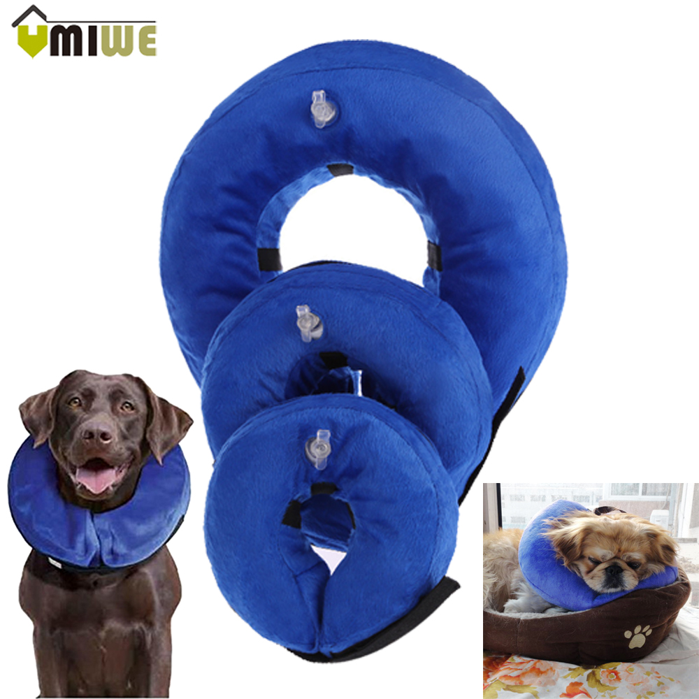 Hot Pet Supplies Inflatable Cat Dog Recovery Neck Protective Collar Comfortable Anti-bite Dog Kitten Collars For Small Big Dogs