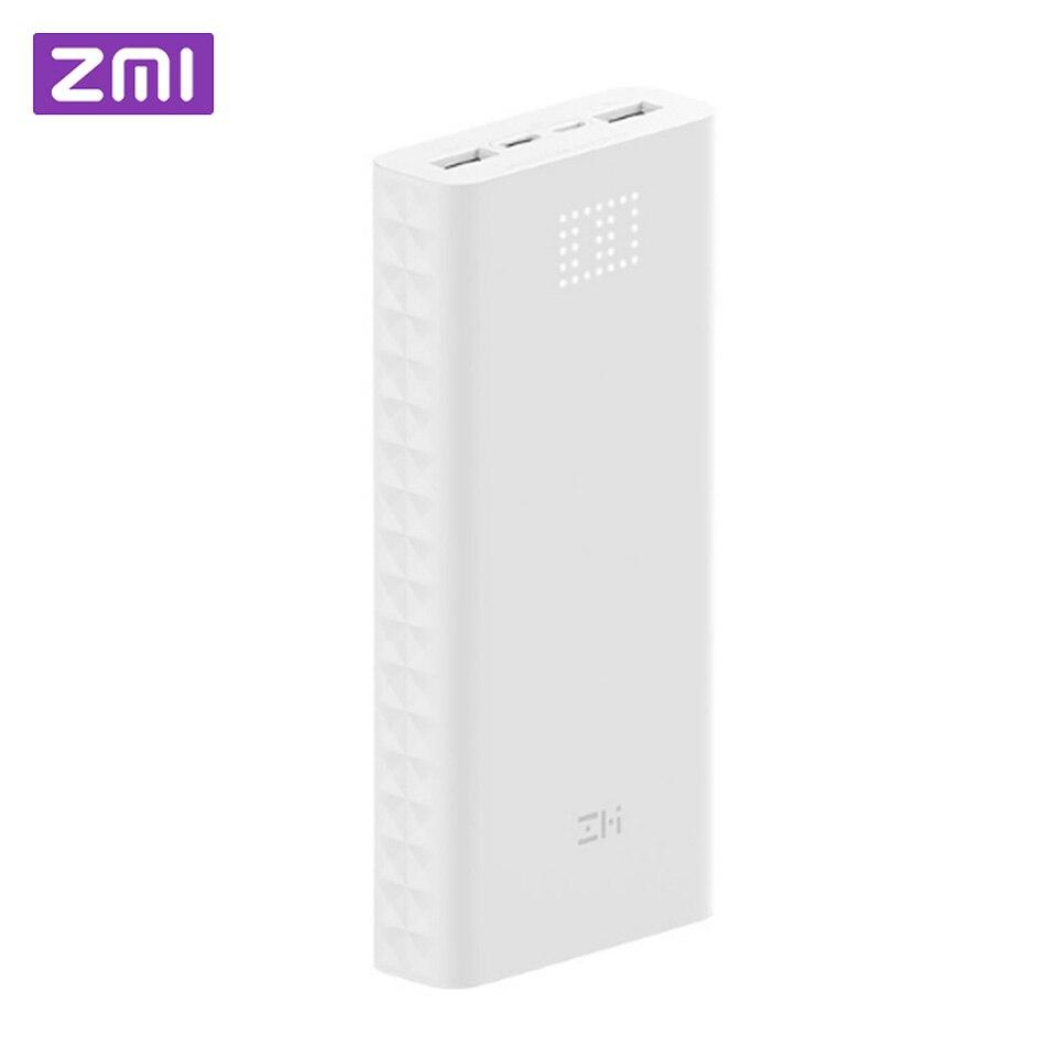 Xiaomi ZMI batterie externe QB821 20000 mAh puissance affichage numérique 18 w QC3.0 charge rapide double USB 20000 mAh Powerbank pour Smartphone