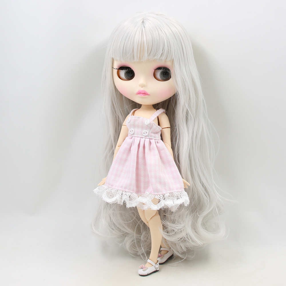 Nude ICY Blythe Doll 1//6 Scale Jointed Body Matte Tan Skin Toy with 4 Color Eyes