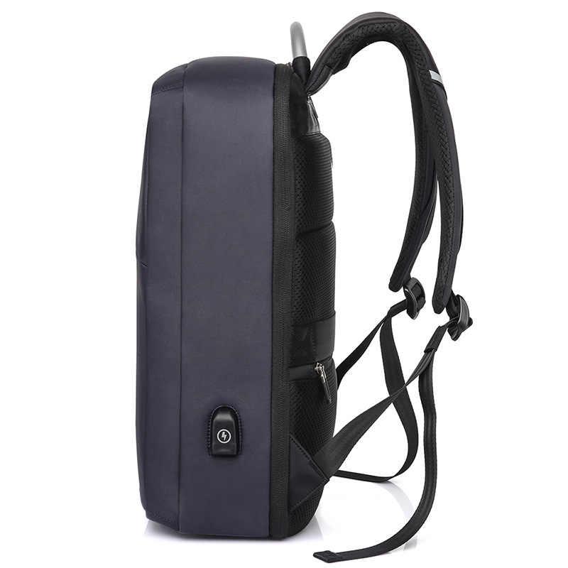 KAKA мужской рюкзак мужской ноутбук черная школьная сумка Школьный USB зарядка дорожная сумка спортивная сумка пакет противоугонные рюкзаки