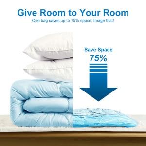 Image 3 - Вакуумные пакеты для хранения одежды, сумка для хранения с ручным насосом, органайзер для одежды, компактный вакуумный сжатый мешок
