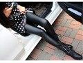 Искусственная кожа брюки стрейч брюки женские кожаные штаны женская мода брюки 2015 последние мода кожаные штаны бесплатная доставка