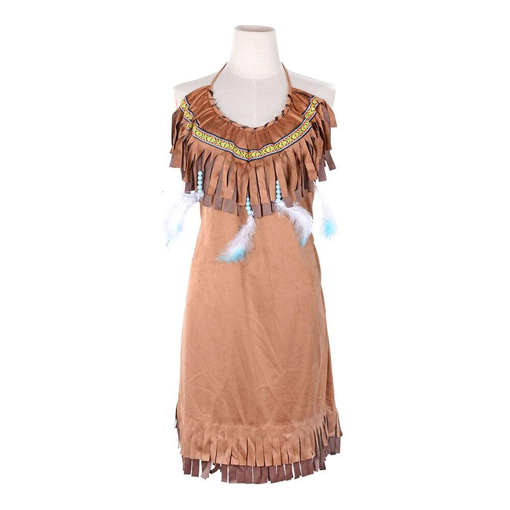 Erwachsene Pocahontas Prinzessin Indian Maiden Kostüm Powhatan ...