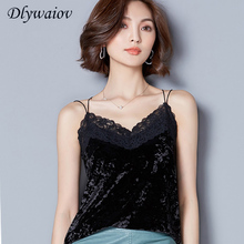 Women Tops Summer Velvet Camisole Female Noodle Shoulder Strap Lace Sexy Ladies Tank Madam Lnterior top Free Shipping