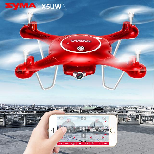 2016 Nueva Llegada de SYMA Control Somatosensorial X5UW UAV Drone con cámara Wifi HD Quadcopter 6 Ejes 4CH 2.4 GHz Inteligente RC Helicóptero