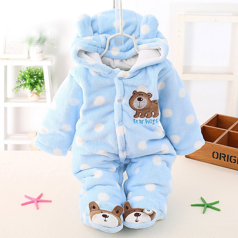 Autumn Winter Baby Romper Newborn Clothes Long Sleeve Coverall Hooded Baby Boy Clothes Girls Clothing Set Roupa Infant Jumpsuit