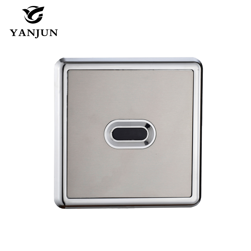 Yanjun Automatic Flush Valve Concealed Sensor Urinal Flush DC&AC 220V YJ-6317 yanjun automatic urinal flush valve infrared wall mount hand touchless dc yj 6311
