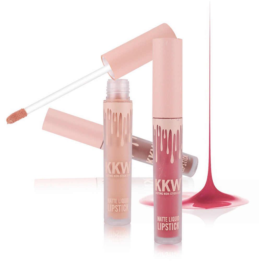Yeni Lady makyaj su geçirmez sıvı dudak parlatıcısı Pop mat Llipstick ömürlü Kilie dudak tonu kırmızı Pop Lipgloss