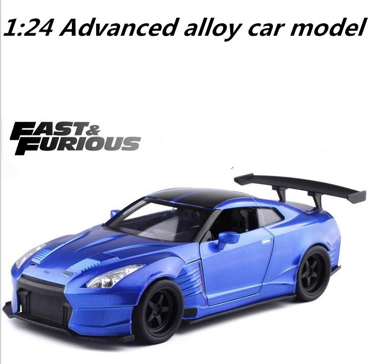 JADA 1:24 Advanced alloy car model,high imitation Ben Sopula GT-R35 sports car, metal casting,collection model, free shipping сандалии cravo