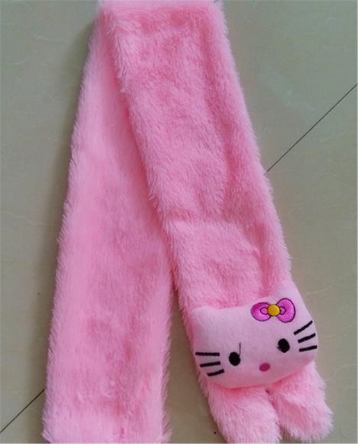 a828bc725 2105 child shawls and scarves Hello Kitty plush hijab lovely band Soft warm  winter scarf for baby birthday/ Christmas gift